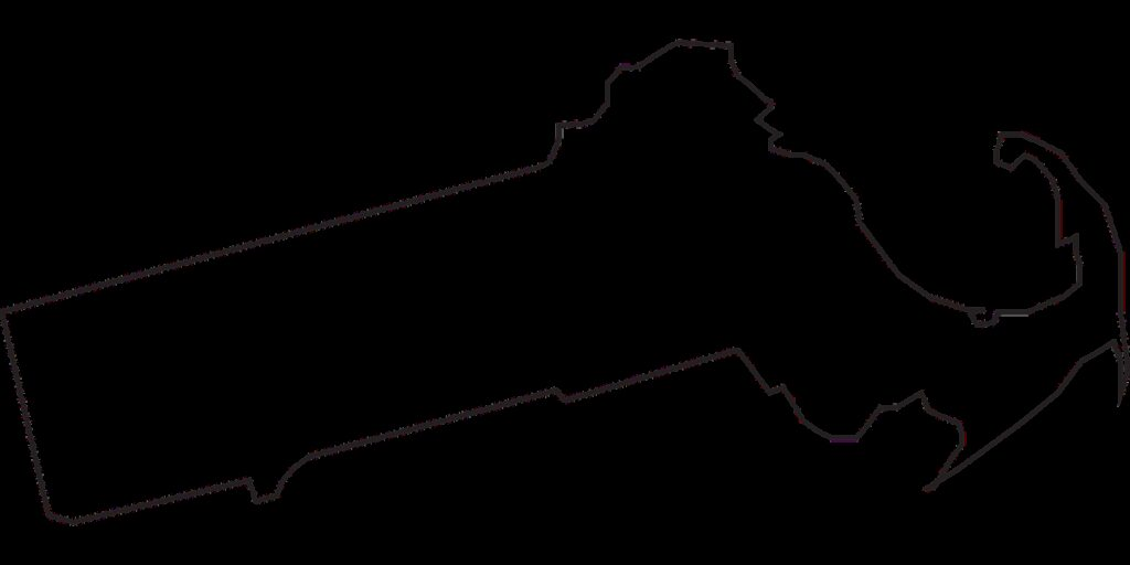 massachusetts, state, map